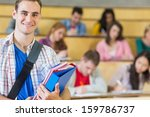 portrait of a smiling male with ... | Shutterstock . vector #159786737