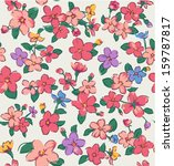 vintage tiny flower seamless... | Shutterstock .eps vector #159787817