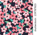 seamless vintage branch pattern ... | Shutterstock .eps vector #159787823