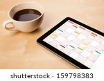 workplace with tablet pc... | Shutterstock . vector #159798383