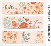 Three Stylish Floral Banners....