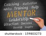 mentor   business concept | Shutterstock . vector #159803273