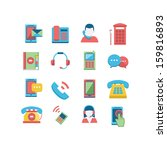 communication icon set | Shutterstock .eps vector #159816893