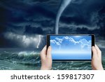 concept of augmented reality ...   Shutterstock . vector #159817307