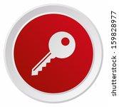 key symbol  grx btn metallic ... | Shutterstock .eps vector #159828977