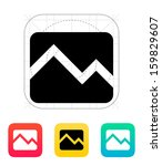 line chart down icon. vector...