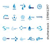 Water And Drop Icons Set  ...