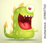 happy monster   Shutterstock .eps vector #159847763