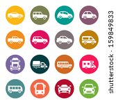 car icon set | Shutterstock .eps vector #159849833