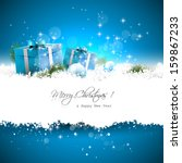 blue christmas greeting card... | Shutterstock .eps vector #159867233
