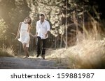 young attractive indian couple... | Shutterstock . vector #159881987