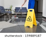 close up of man cleaning the... | Shutterstock . vector #159889187