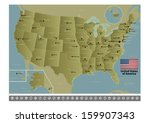 united states of america | Shutterstock .eps vector #159907343
