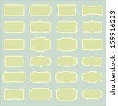 set of vintage labels  eps10... | Shutterstock .eps vector #159916223