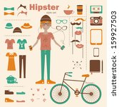 hipster girl infographic
