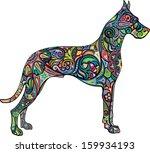 Stock vector dog 159934193