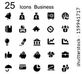 basic set of business icons in... | Shutterstock .eps vector #159941717