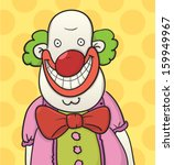 fat cartoon clown with a red tie | Shutterstock .eps vector #159949967