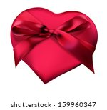 red heart with ribbon...