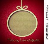 christmas balls. abstract... | Shutterstock . vector #159963617