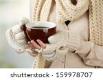 Female Hands With Hot Drink  O...