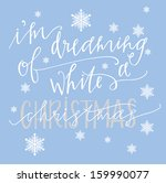 white christmas | Shutterstock .eps vector #159990077