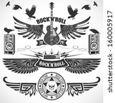 rock n 'roll set of symbols...
