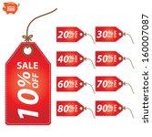 vector  sale 10   90 percent... | Shutterstock .eps vector #160007087