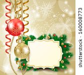 christmas background with... | Shutterstock .eps vector #160008773