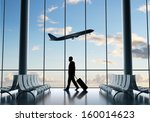 businessman in airport and... | Shutterstock . vector #160014623