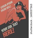 stunning cartoon devil girl... | Shutterstock .eps vector #160037363