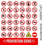 prohibition set symbol | Shutterstock .eps vector #160047167