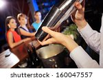 waiter shaking a cocktail ... | Shutterstock . vector #160047557