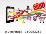 online shopping using internet... | Shutterstock .eps vector #160053263