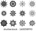 set of snowflakes | Shutterstock .eps vector #160058993