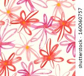 floral colorful hand drawn... | Shutterstock .eps vector #160060757