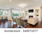 living room in luxury home | Shutterstock . vector #160071077