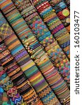 handmade peruvian bracelets in...   Shutterstock . vector #160103477