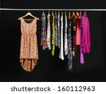 female variety of colorful... | Shutterstock . vector #160112963