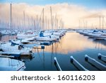 Winter View Of A Marina In...