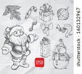 Christmas Hand Drawn Doodle Set