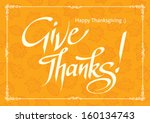 thanksgiving card on yellow... | Shutterstock .eps vector #160134743
