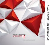 red and white vector geometric... | Shutterstock .eps vector #160137947