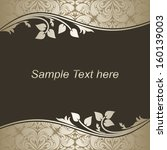 luxury dark background with...   Shutterstock .eps vector #160139003