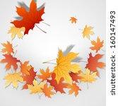 autumn leaves background. | Shutterstock . vector #160147493