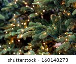 christmas lights hanging in a... | Shutterstock . vector #160148273