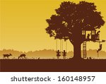 Playing Children Silhouette At...