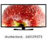 lcd tv screen isolated on white ... | Shutterstock . vector #160159373