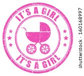 Its A Girl Pink Stamp