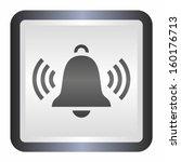ringing bell  elegance silver... | Shutterstock .eps vector #160176713